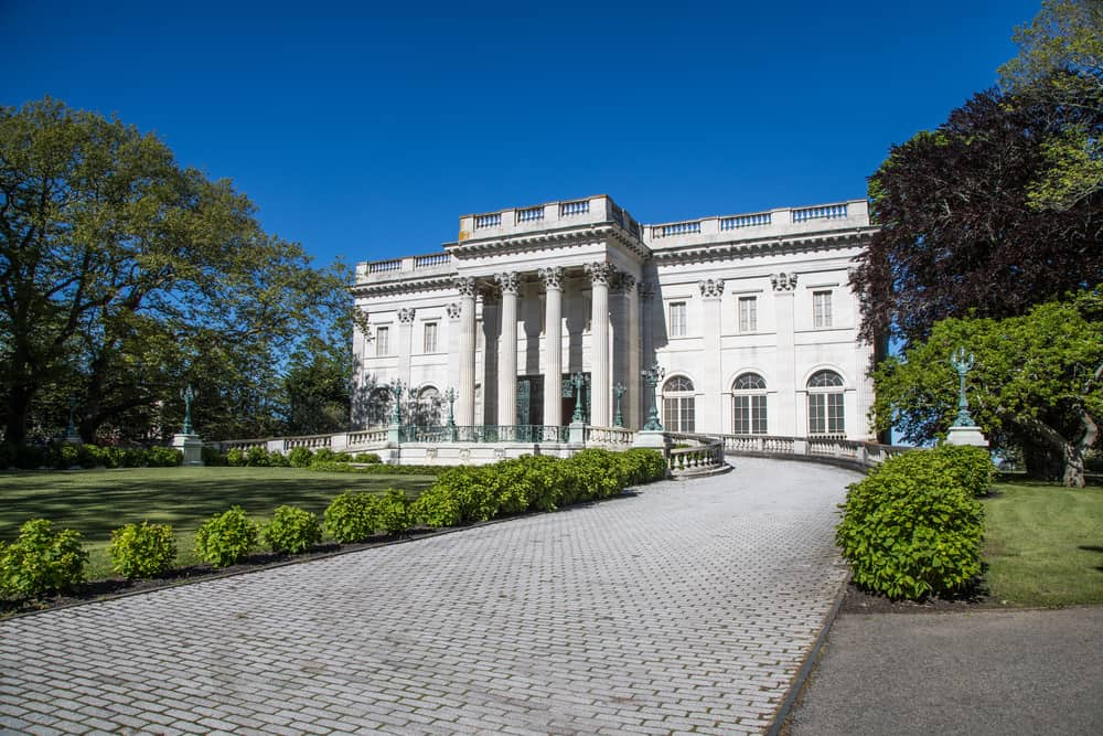 Marble House and grounds in Newport RI