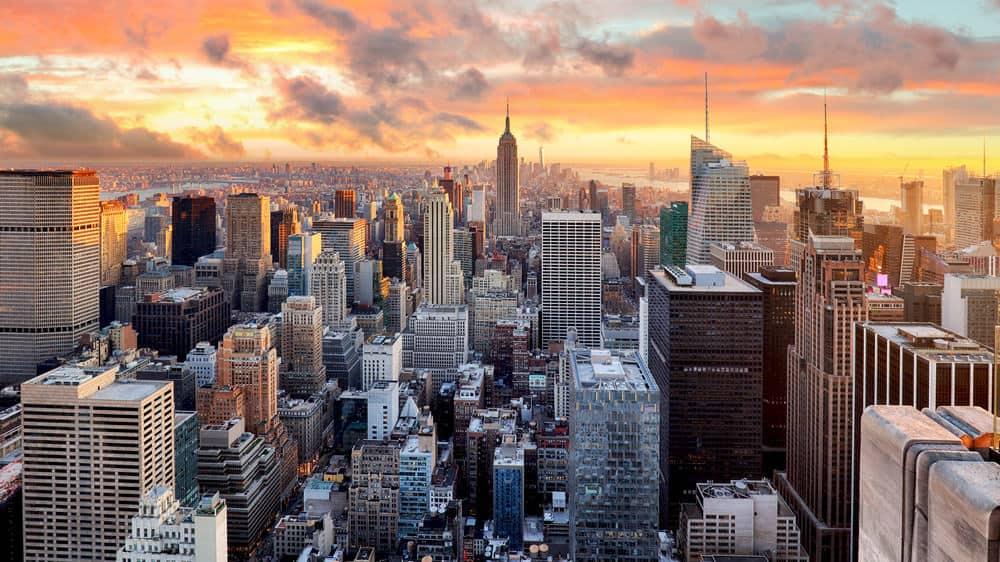 New York City Skyline view at dusk