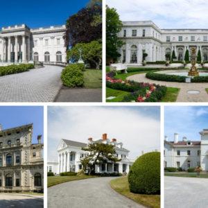 Newport Rhode Island Mansions along Cliff Walk