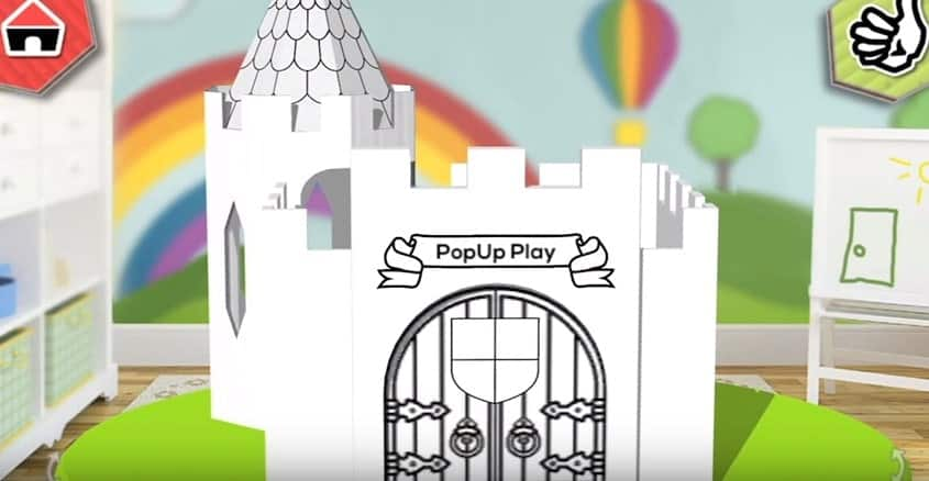 PopUp Play Build Lab Designing Castle Playhouse Model 1