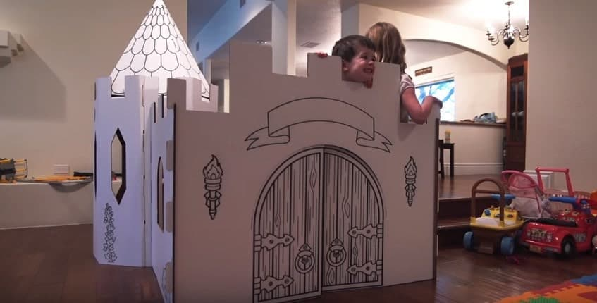 PopUp Play Build Lab Manufactured Castle Playhouse Model 1