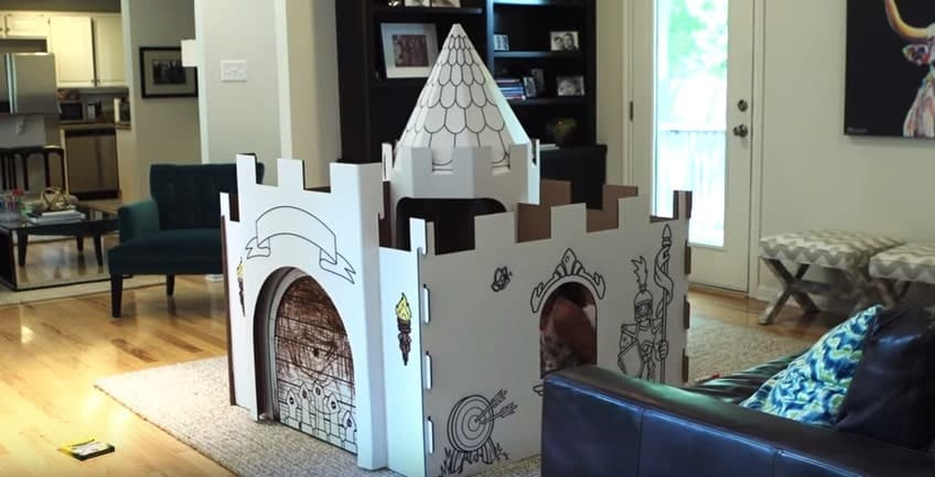 PopUp Play Build Lab Manufactured Castle Playhouse Model 2
