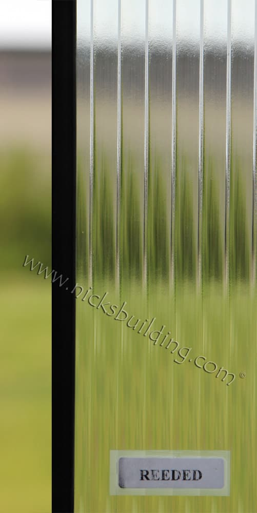 Reeded glass design