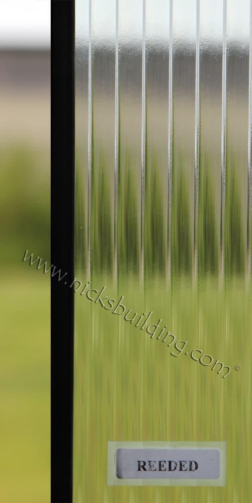 Reeded glass design