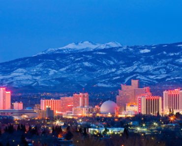 Reno, Nevada skyline photo at night