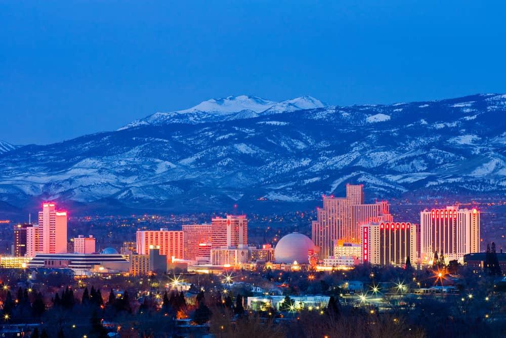 Reno, Nevada skyline photo at night