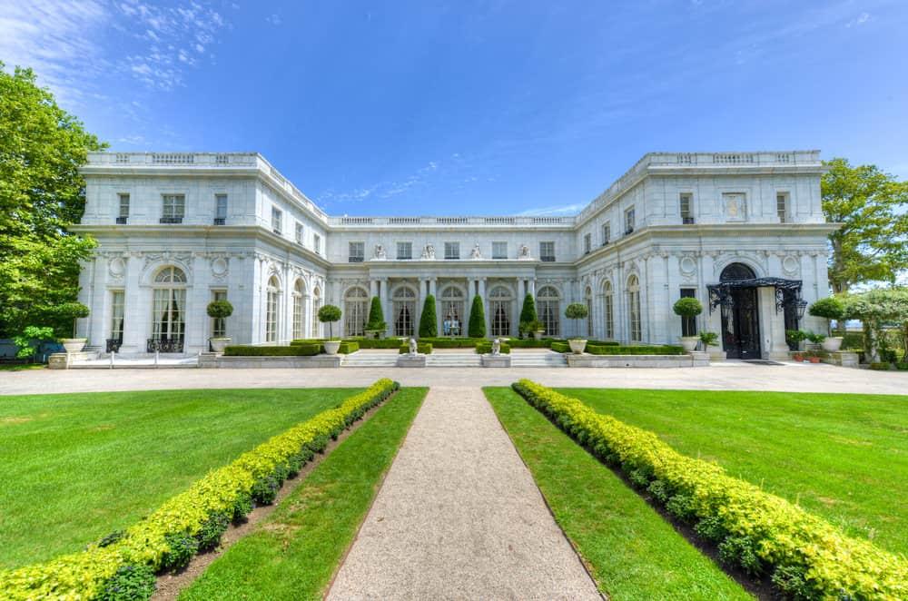 Rosecliff mansion on Cliff Walk in Newport RI