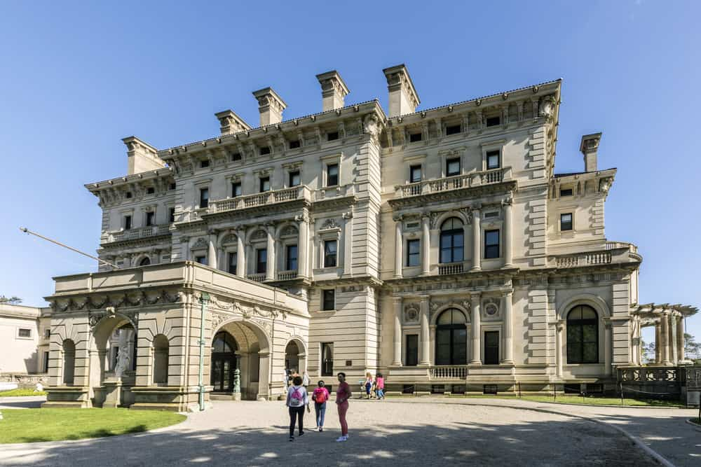 The Breakers front facade and grounds