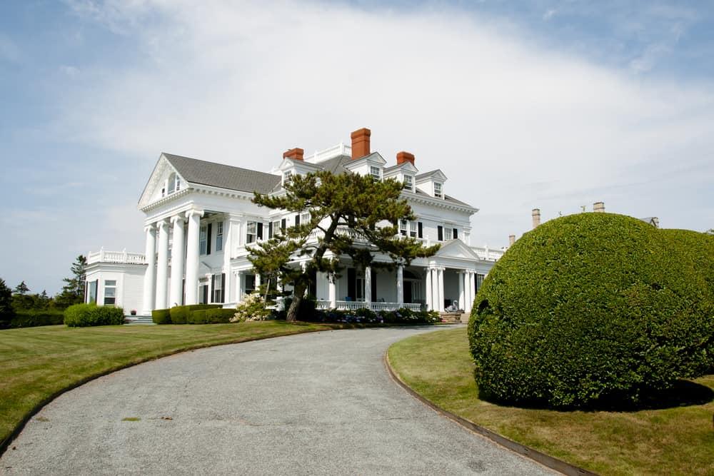 View of Crossways Mansion in Newport RI