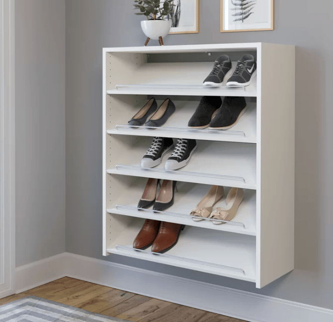 Wall mounted floating shoe cabinet sept6