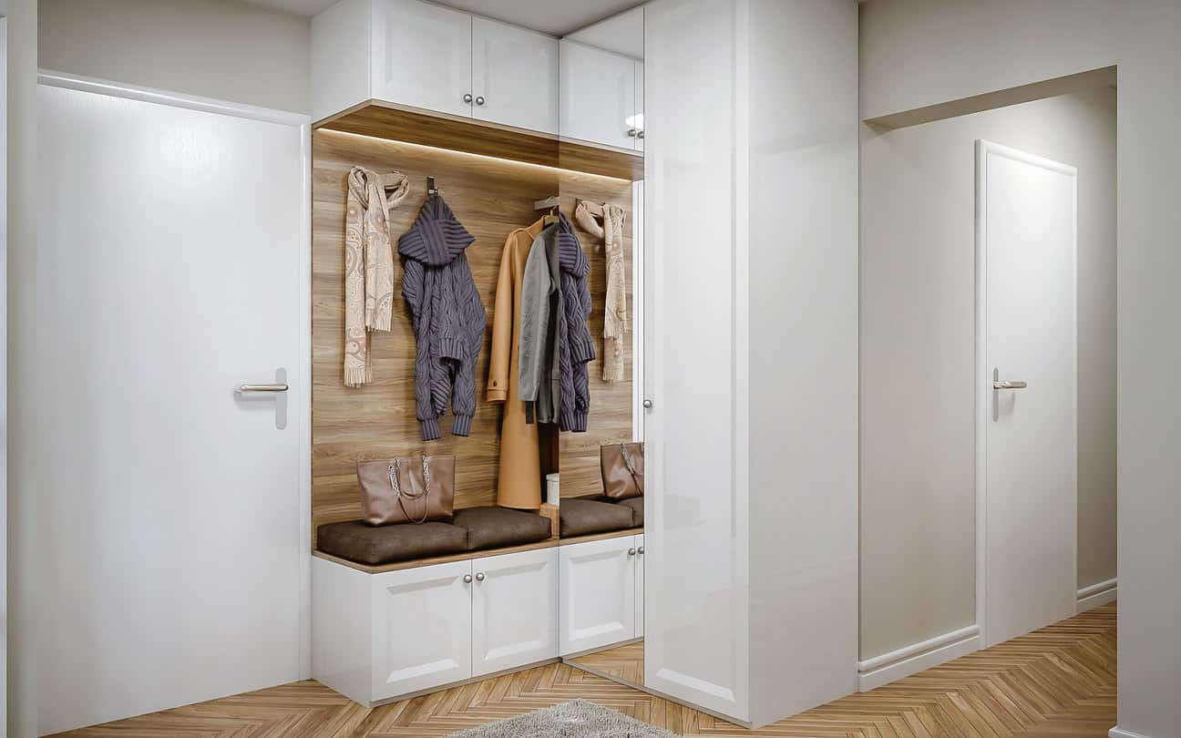 Small apartment mudroom