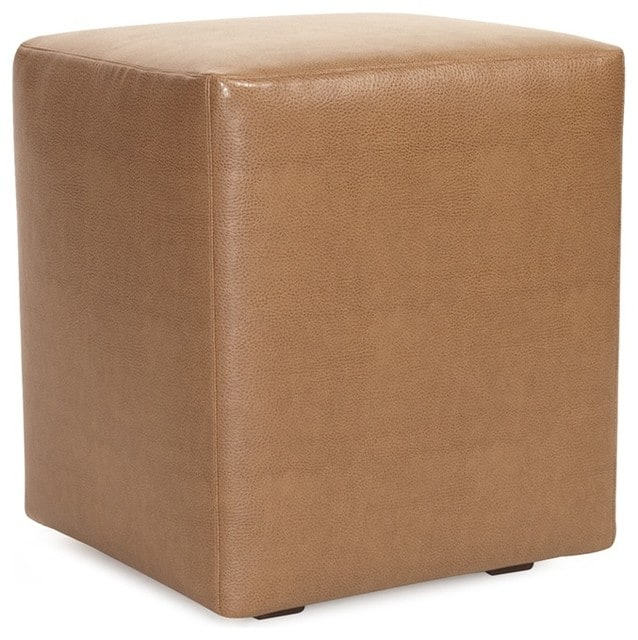 Bronze, faux leather slipcover.