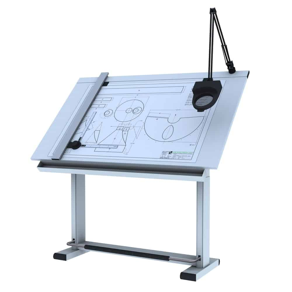 Drafting board on white background.