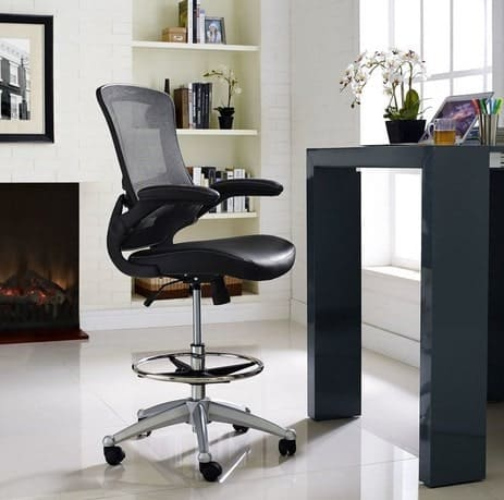 Drafting chair in an office.