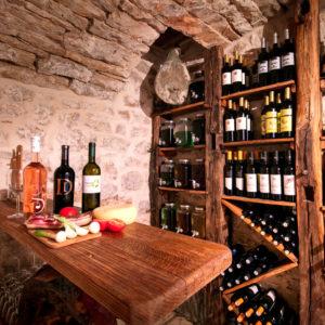 Elegant wine cellar in luxury home