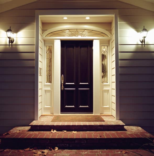 Example of very nice front door on luxury home