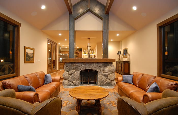 Gorgeous living room by Fortress Builders located in Reno, NV