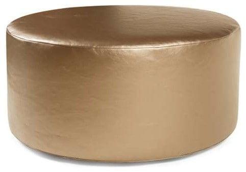 Gold, round slipcover.