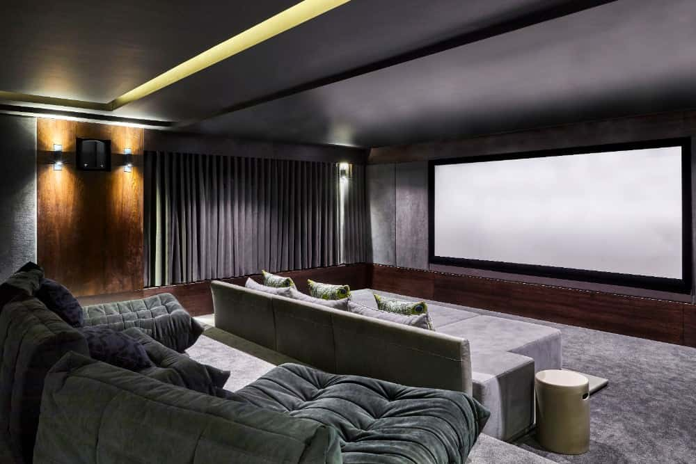 The Paneled Walls And Lighting Add To Overall Experience Aesthetics Click Here See Step By Building Of This Diy Home Theater