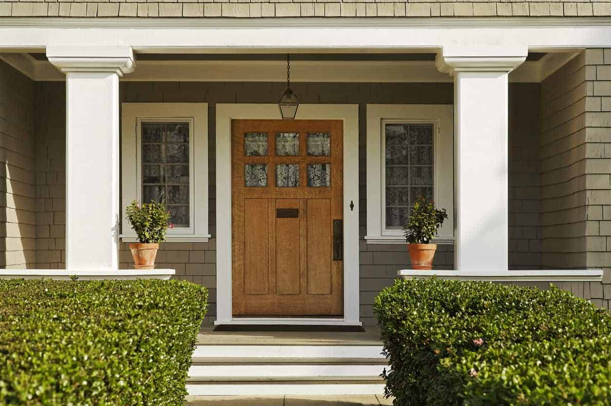 Medium Dark Wooden Front Door