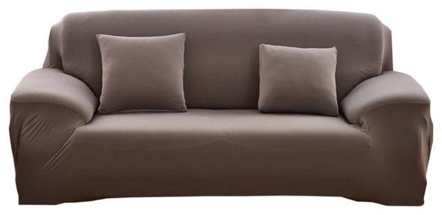 Modern, elastic sofa slipcover..