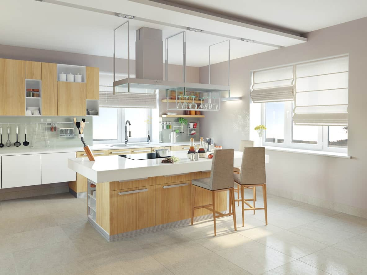 Render design of what I think is a very cool modern kitchen design that  while very