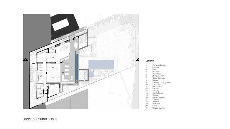The house's architectural plan design. Photo Credit: Justin Alexander
