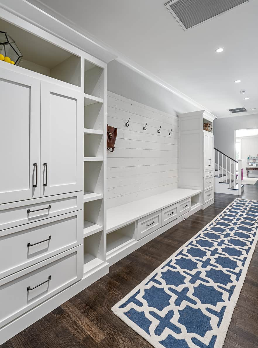 What An Absolute Beauty Of A Mudroom This Example Is Look At All That Storage