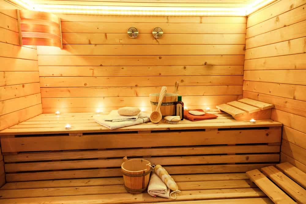Sauna in the house