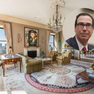 Steve Mnuchin sells his Manhattan home for $32 million.