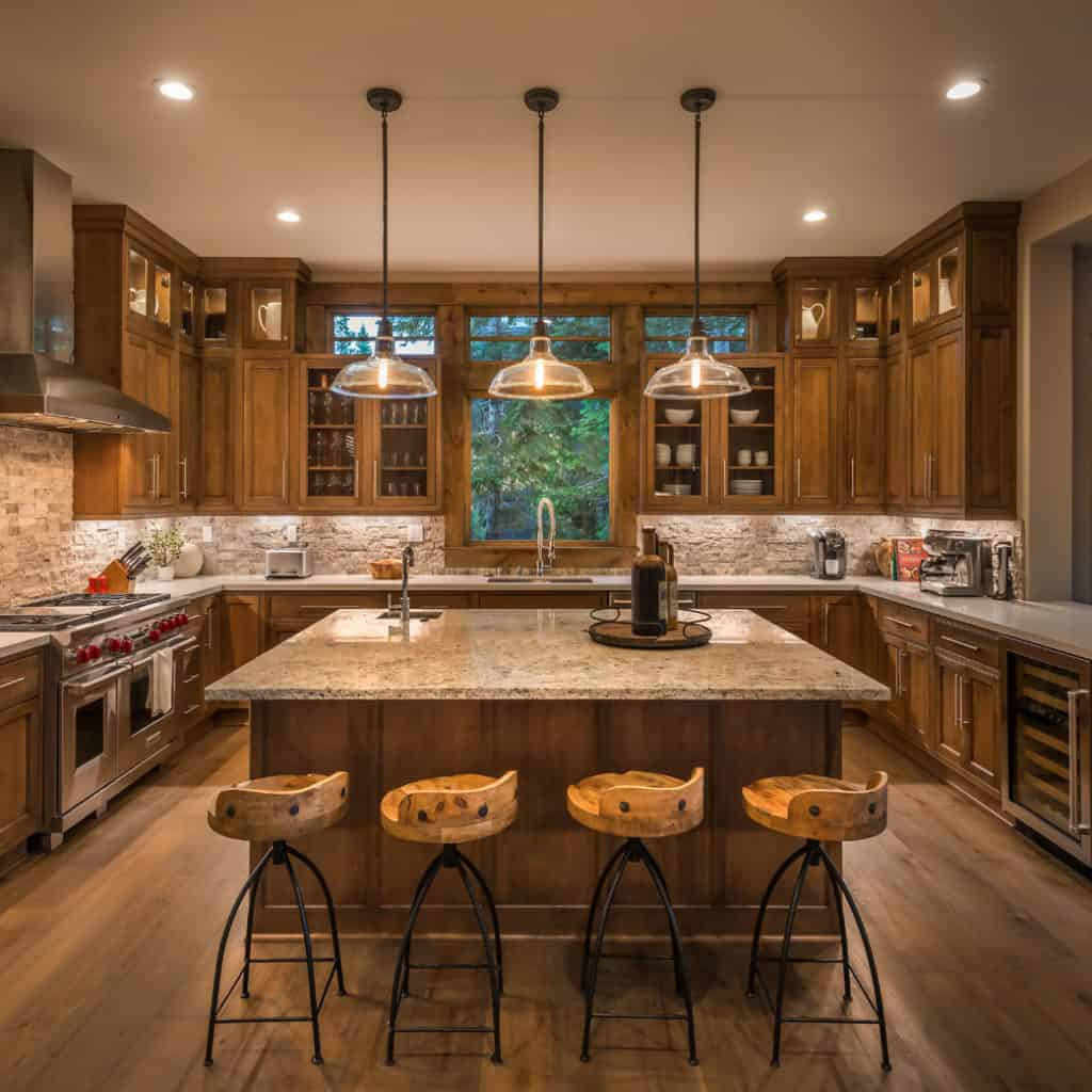 Custom kitchen by Tanamera Construction located in Reno, NV
