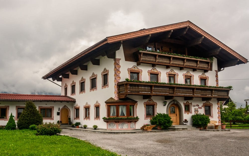 Large traditional Austrian house.