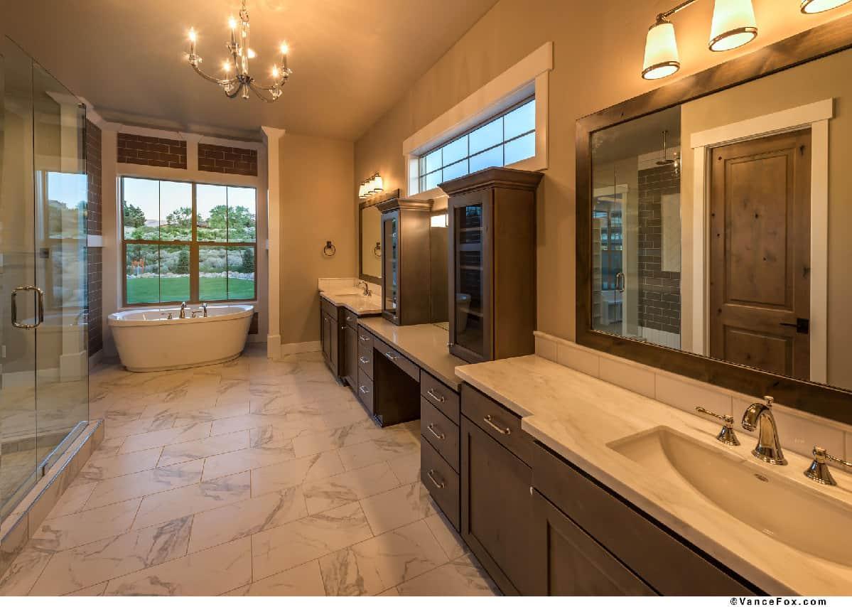Custom master bathroom by TRC Homes in Reno, Nevada
