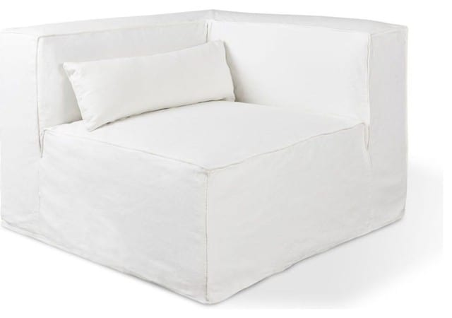 Cotton slipcover in White.