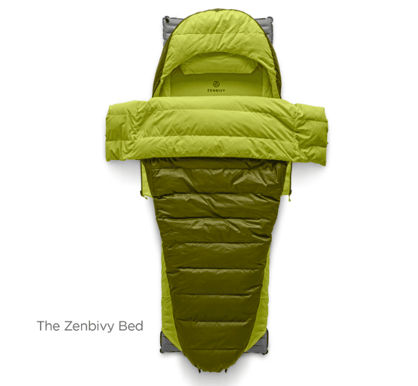 Zenbivy bed as sleeping bag alternative
