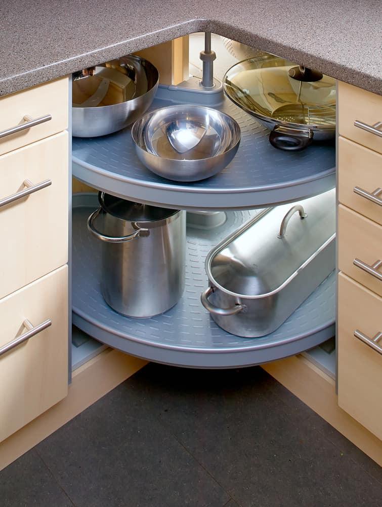 2 level lazy suzan corner cabinet