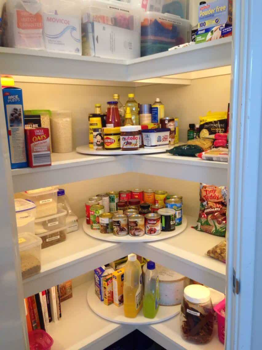 Why have one lazy susan if you can have 3 in your kitchen pantry