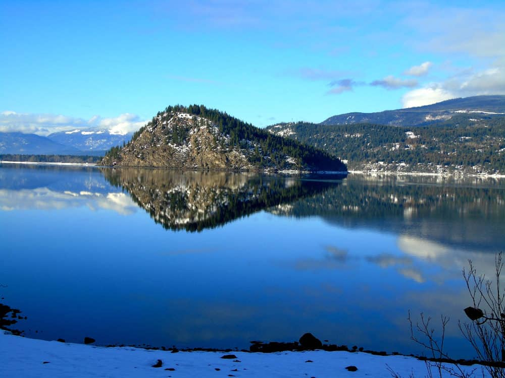 Copper Island in the Shuswap in BC