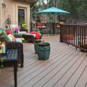 Stunning deck with composite decking.
