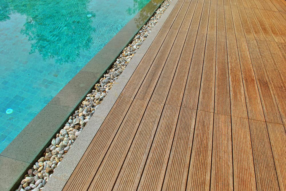Example of bamboo decking.