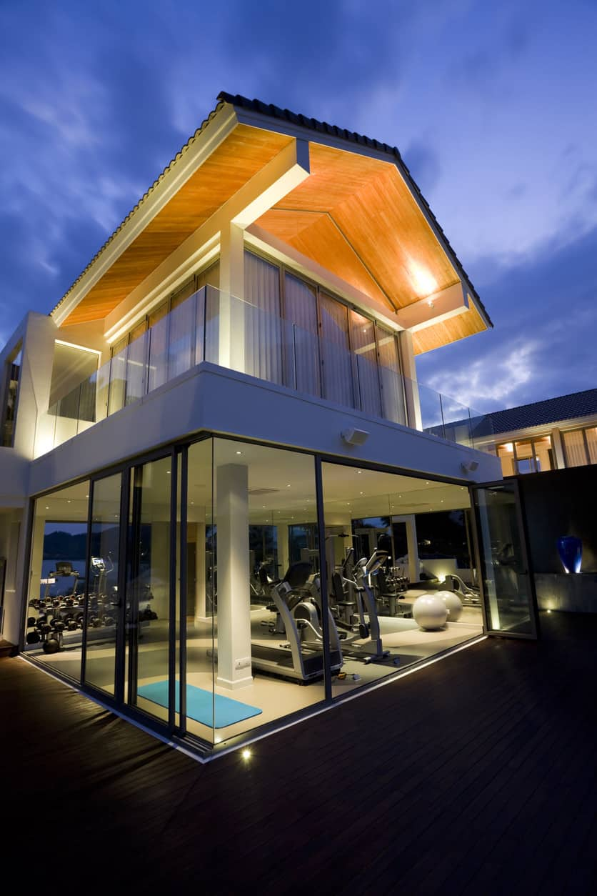 Luxurious home gym at the lower floor of the house.
