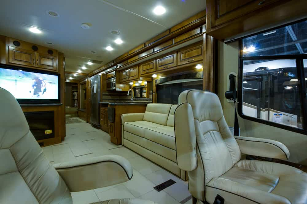 Interior luxury motorcoach
