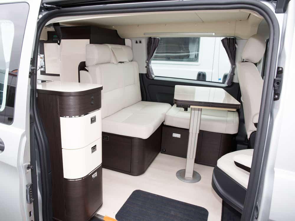 New interior of campervan