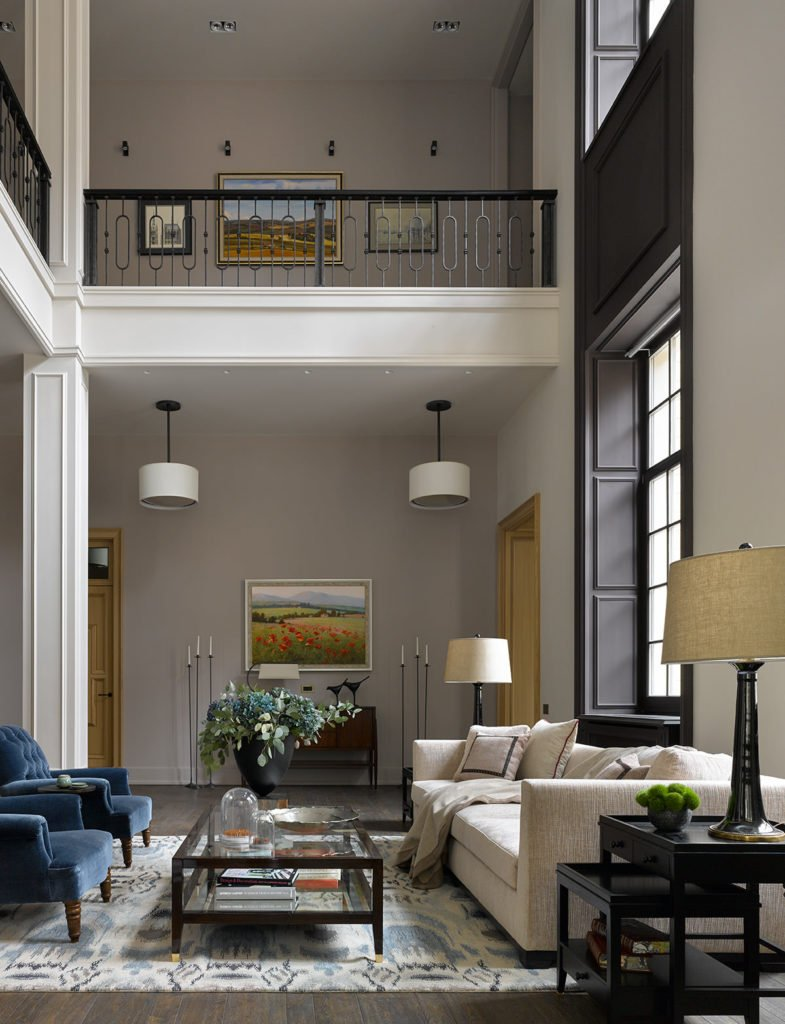 A wider angle of the room above shows how this design also adds some symmetry to décor for a put together look.