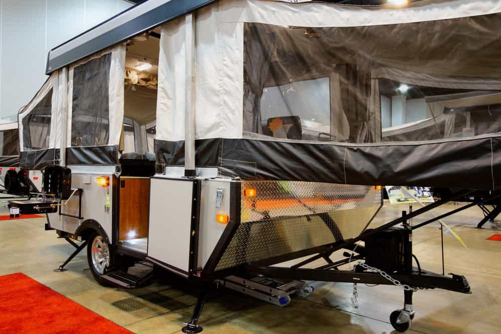 Pop up tent trailer example