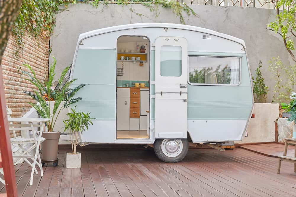 Retro camper trailer