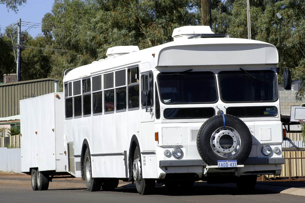 Old bus converted into a motorhome