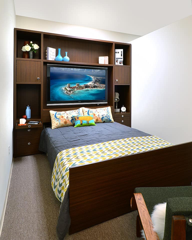 Wall bed entertainment center
