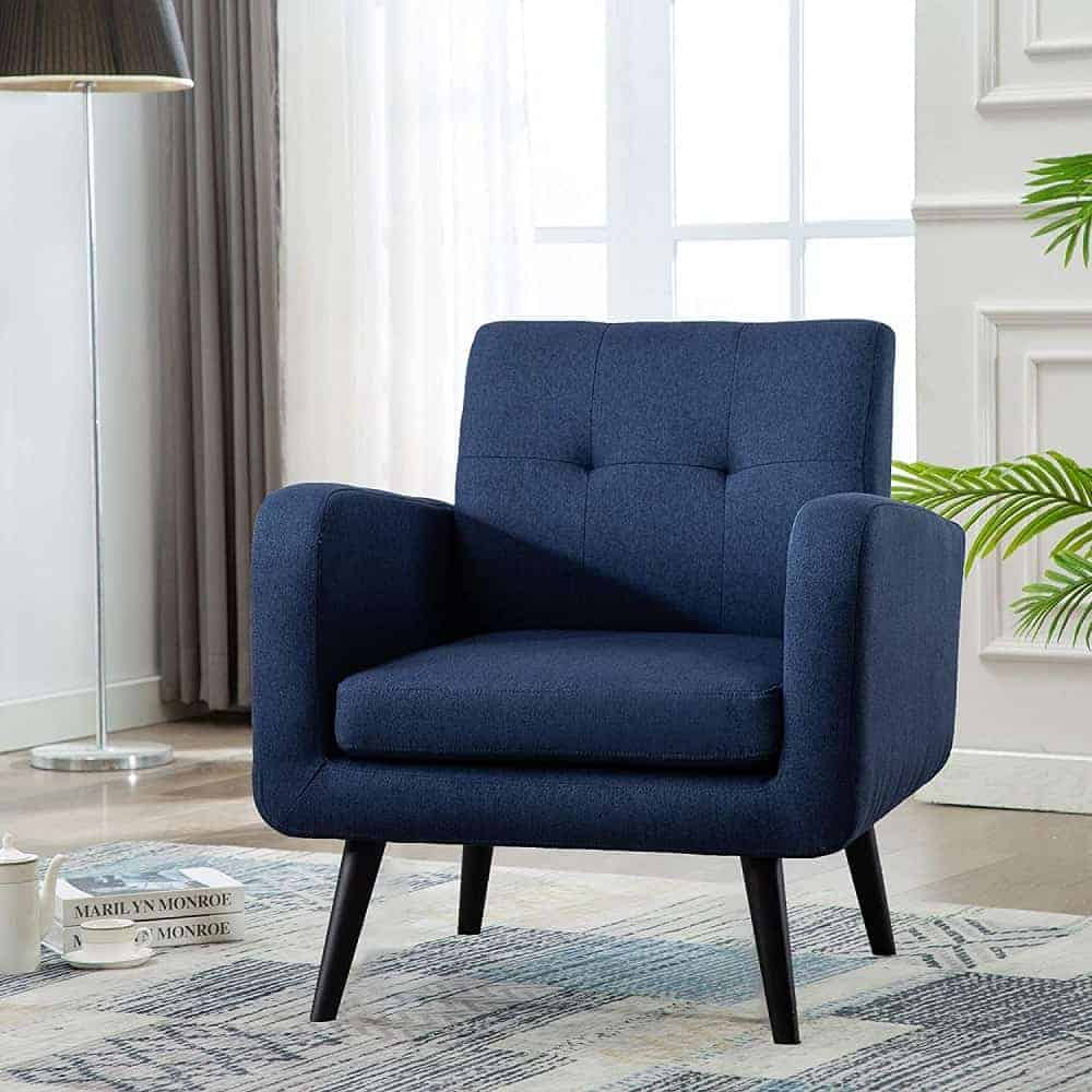 The LSSPAID Mid-Century Modern Accent Chair from Amazon.