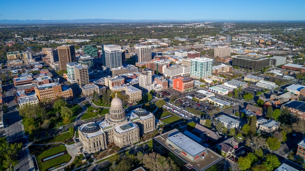 Aerial view of Boise, Idaho.
